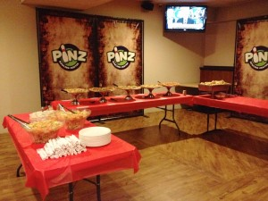 Pizza buffet at Pinz!