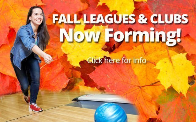 Fall Leagues Now Forming at Pinz