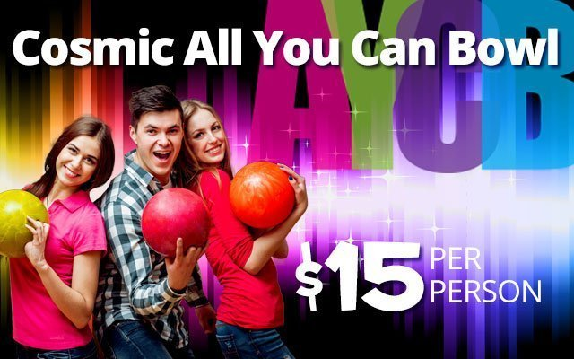 Cosmic All You Can Bowl at Pinz Bowling Center