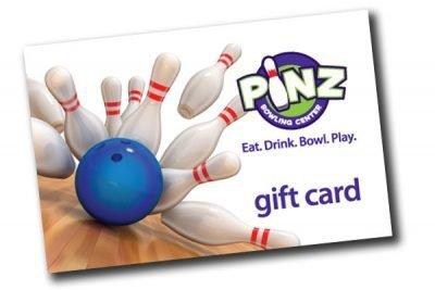 Pinz Bowling Center Gift Card