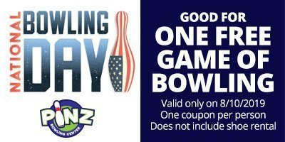 National Bowling Day Coupon