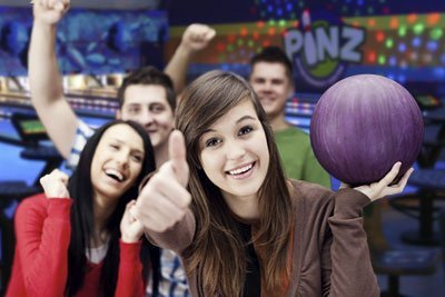 Photo of teen party at Pinz Bowling Center