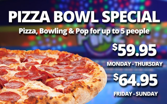 Pizza Bowl Special from Pinz in South Lyon