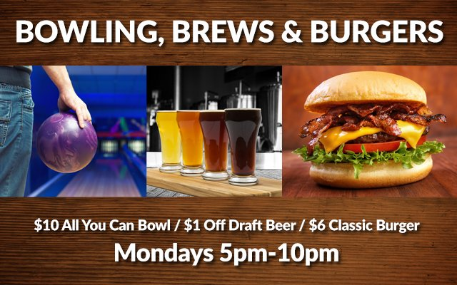Bowling, Brews & Burgers Special Photo