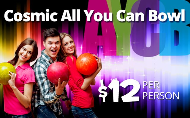 Pinz All You Can Bowl Special Ad